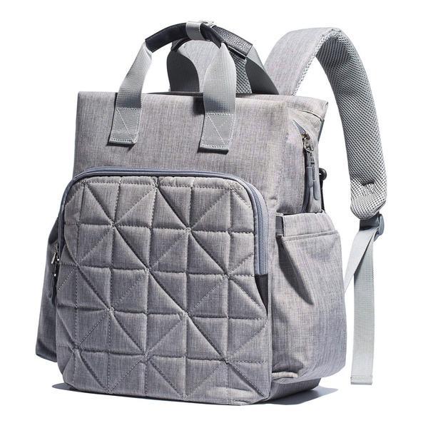 SoHo Kenneth Diaper Backpack 6Pc Tote Bag, Gray