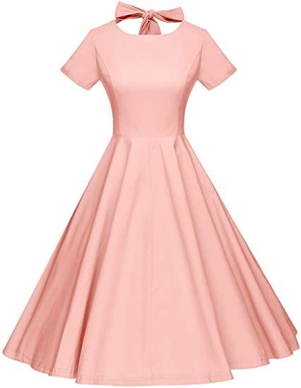 Pink Retro Pin Up Dress for Maternity