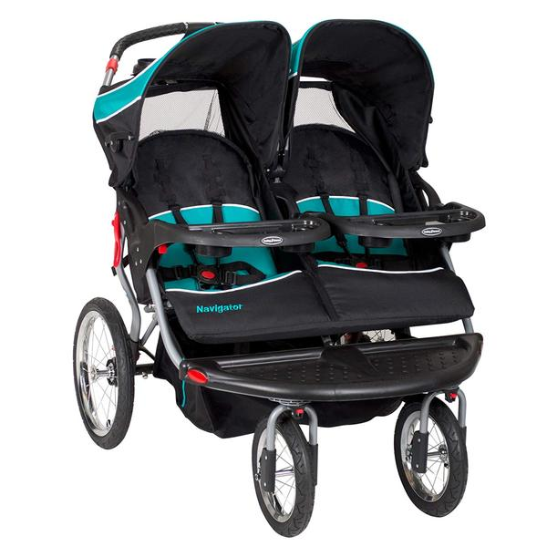 Baby Trend navigator double jogger stroller tropic