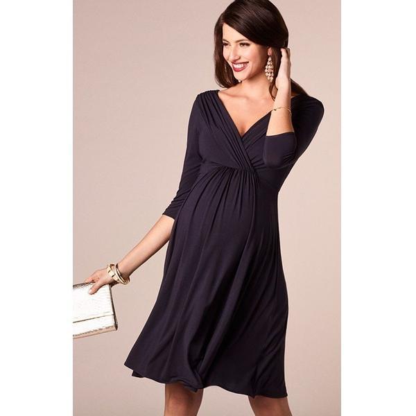 Maternity Evening Cocktail Plus Size Dress - Black