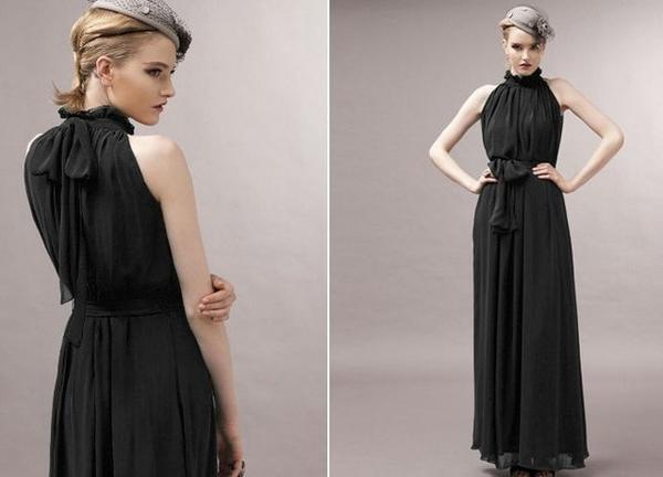 Bodycon Maternity Dresses - Black
