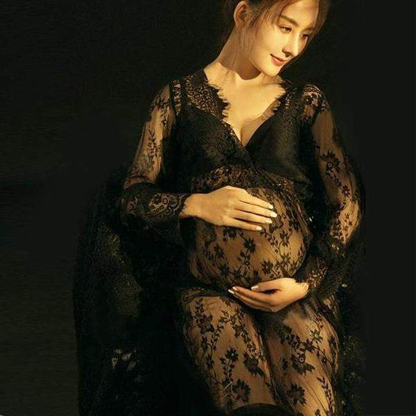 Aria Summer Maternity Gown - Black