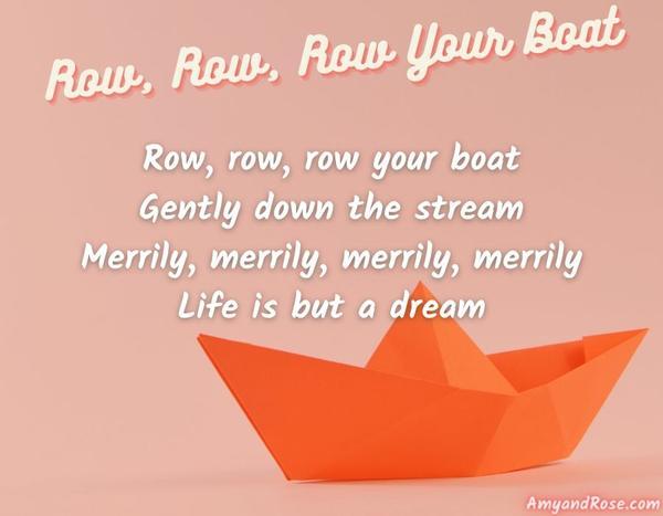 Row Row Row Your Boat Lullaby Lyrics