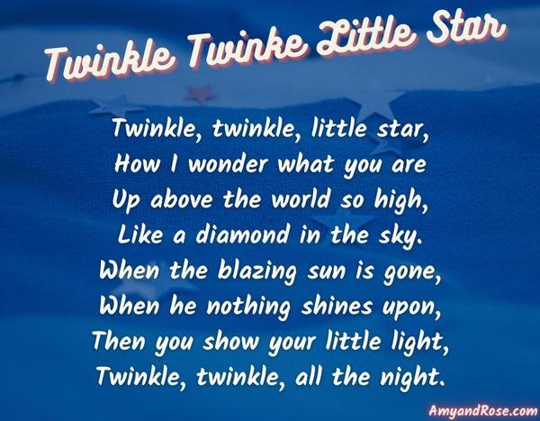 Twinkle Twinkle Little Star Lullaby Lyrics