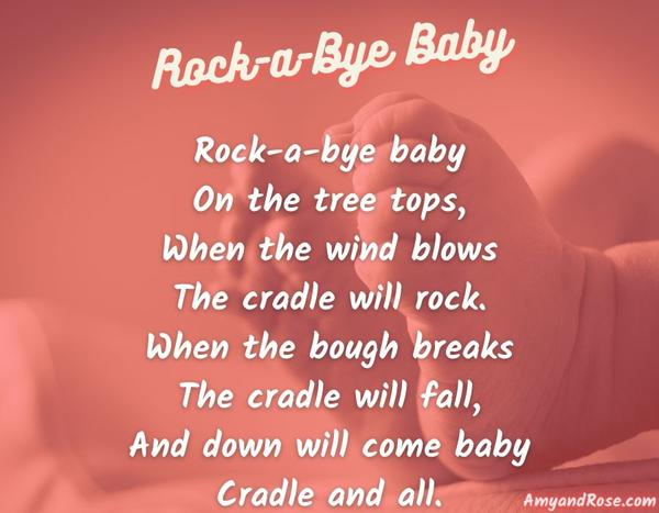 Rock A Bye Baby Lullaby Lyrics