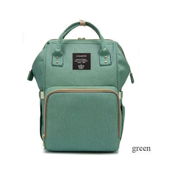 Lequeen Diaper Bag Backpack Light Green
