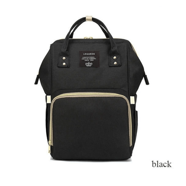 Lequeen Diaper Backpack Black
