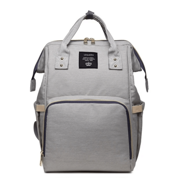 Lequeen Diaper Bag Backpack Light Gray