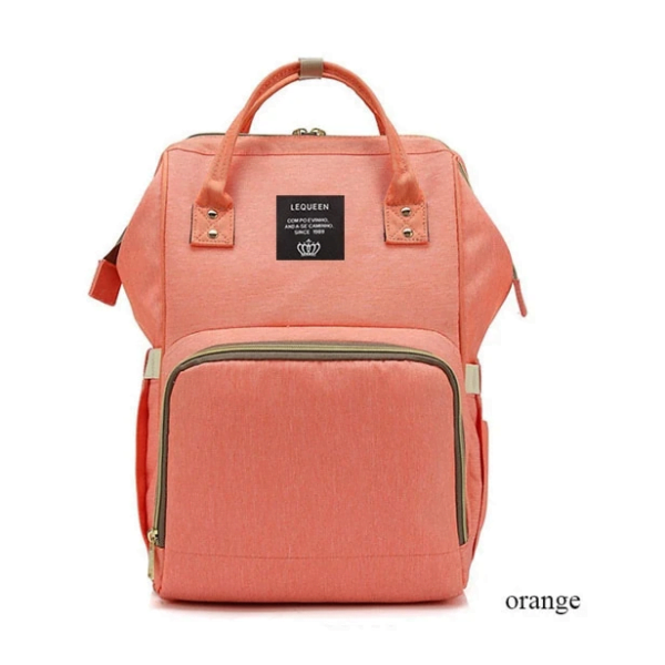 Lequeen Diaper Bag Backpack Orange