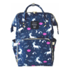 Lequeen Diaper Bag Backpack Blue Unicorn