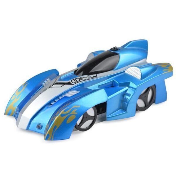 AmyandRose Zero Gravity Wall Climbing RC Car with USB Charging Blue