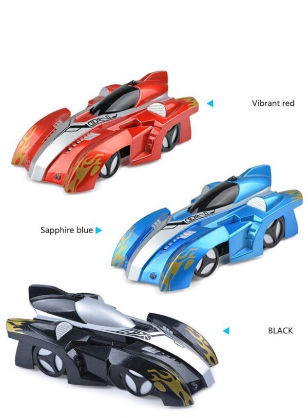 AmyandRose Zero Gravity Wall Climbing RC Car with USB Charging Colors