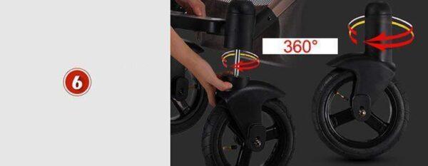 Baby Stroller 3 in 1 360 degree
