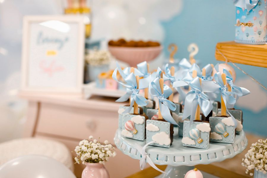 Blue Baby Shower Items