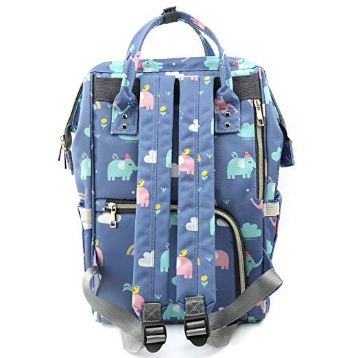 Elephant Diaper Bag Back