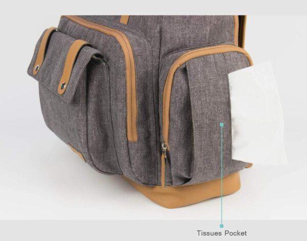 Diaper Backpack Bag for Dads Side Pocket