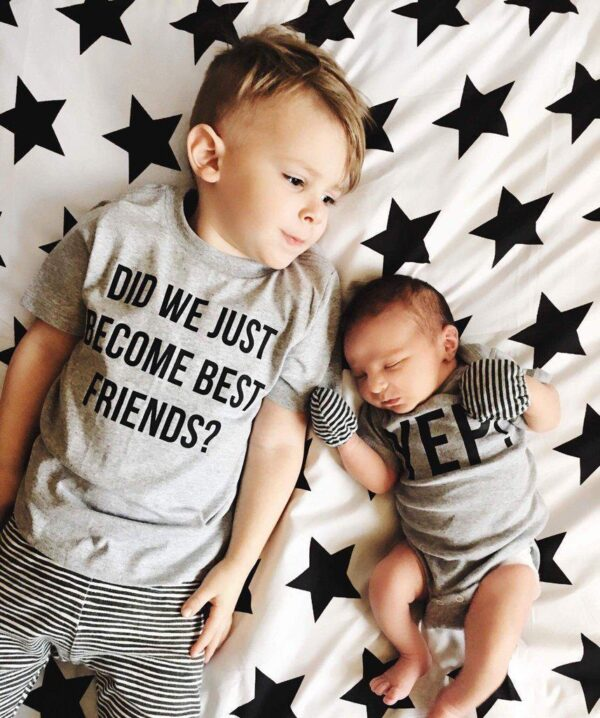 Did We Just Become Best Friends T Shirt and Onesie for Siblings and Best Friends