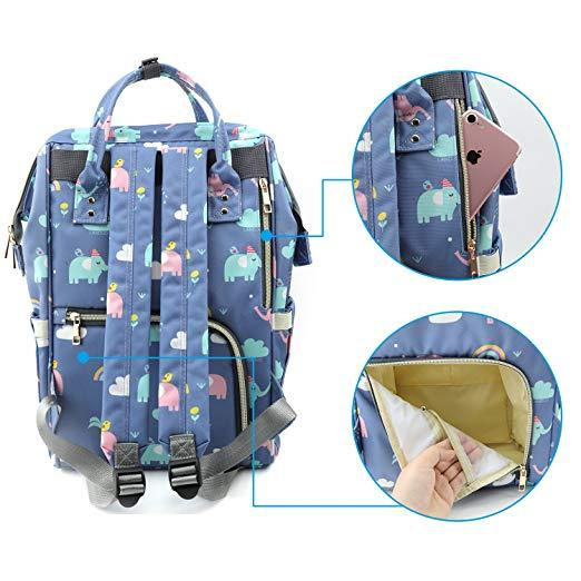 Elephant Diaper Bag Easy Access