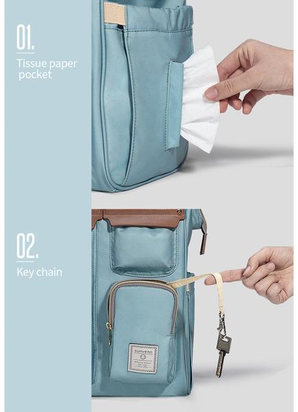 Sunveno Diaper Backpack Side Pockets