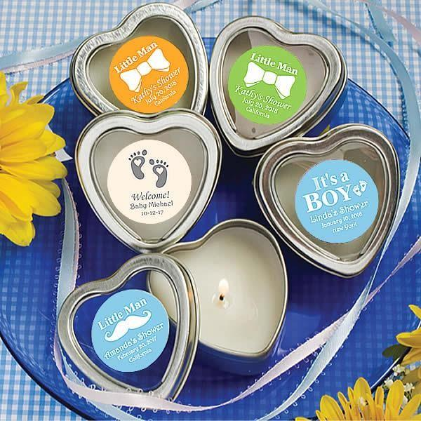 Custom Scented Heart Candles