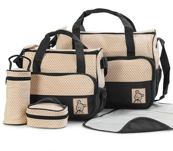 Large capacity diaper bag with changing mat