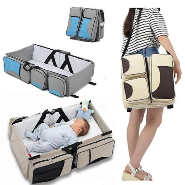 Diaper Bag with Portable Changing Station