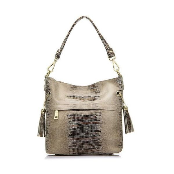 Mason Crocodile Bag Handbag Apricot