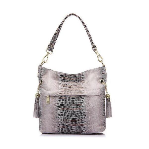Mason Crocodile Bag Handbag Beige