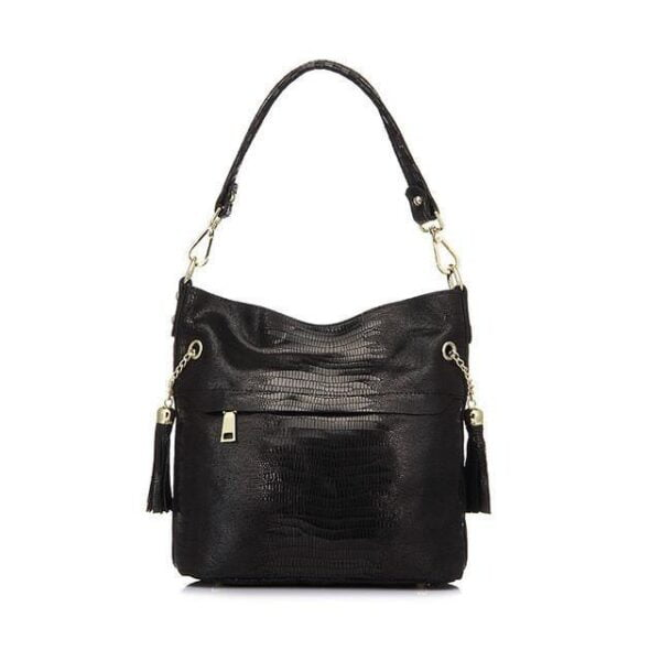 Mason Crocodile Bag Handbag Black