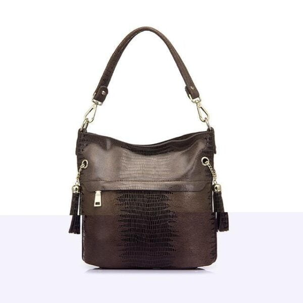 Mason Crocodile Bag Handbag Brown