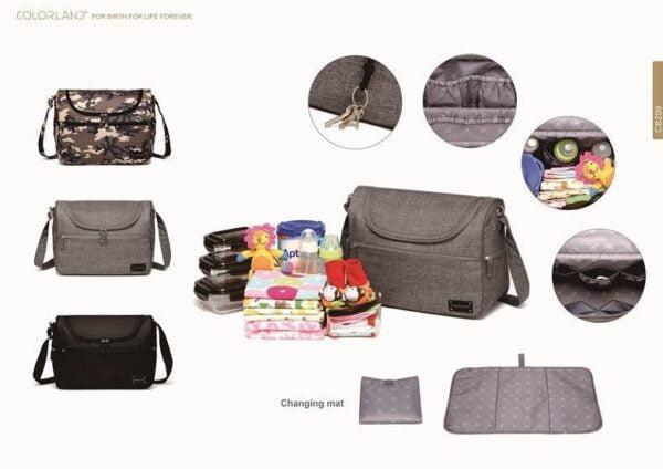 Messenger Diaper Bag Details