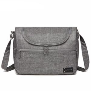 Messenger Diaper Bag Gray