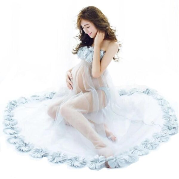 Open Belly Maternity Dress
