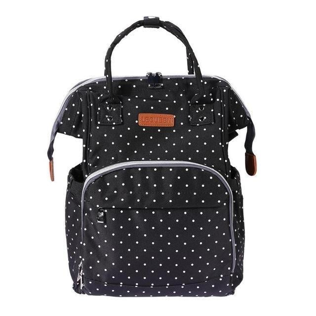 Nappy bag with the name Red dots