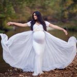 Maternity Dress with Cape