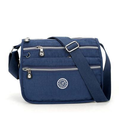 Lita Multi Compartment Handbag Purse Dark Blue