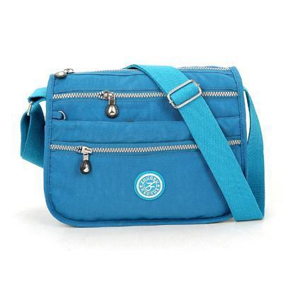 Lita Multi Compartment Handbag Purse Sky Blue
