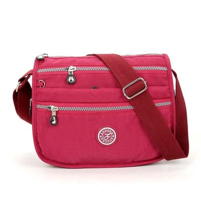 Lita Multi Compartment Handbag Purse Rose Pink