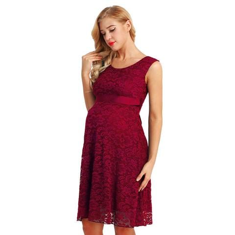 Cocktail Maternity Dress Burgundy