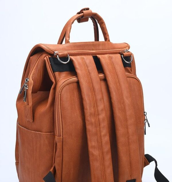 Leather Diaper Backpack Back