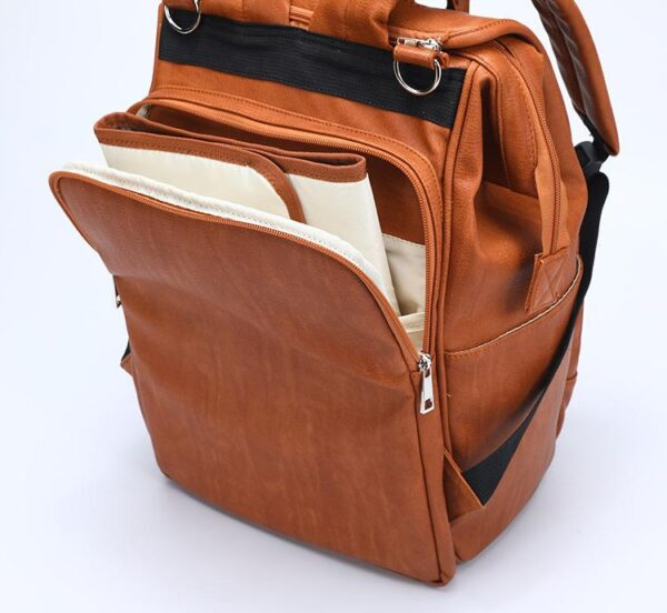 Leather Diaper Backpack Insert