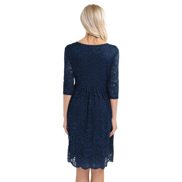Cocktail Party Maternity Dress Navy Blue Back