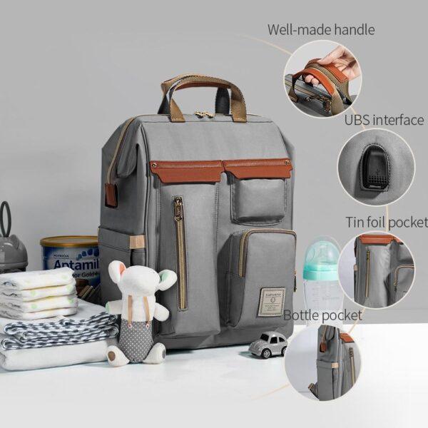 Sunveno Diaper Backpack Bag