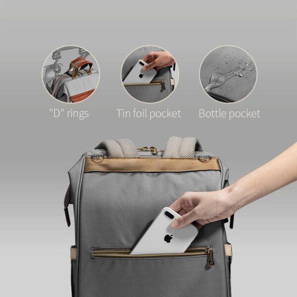 Sunveno Diaper Backpack Pockets