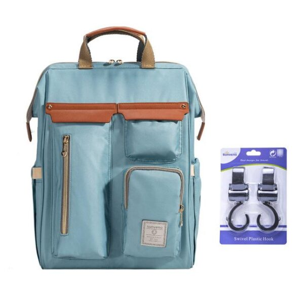 Sunveno Diaper Backpack Bag Blue