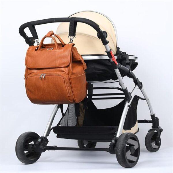 Leather Diaper Bag Stroller