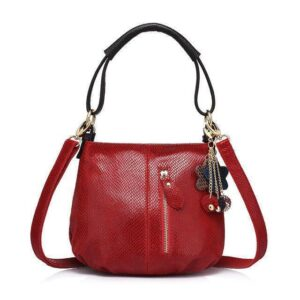 Sissy Leather Handbag Red