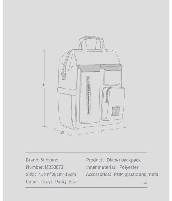 Sunveno Diaper Backpack Dimensions