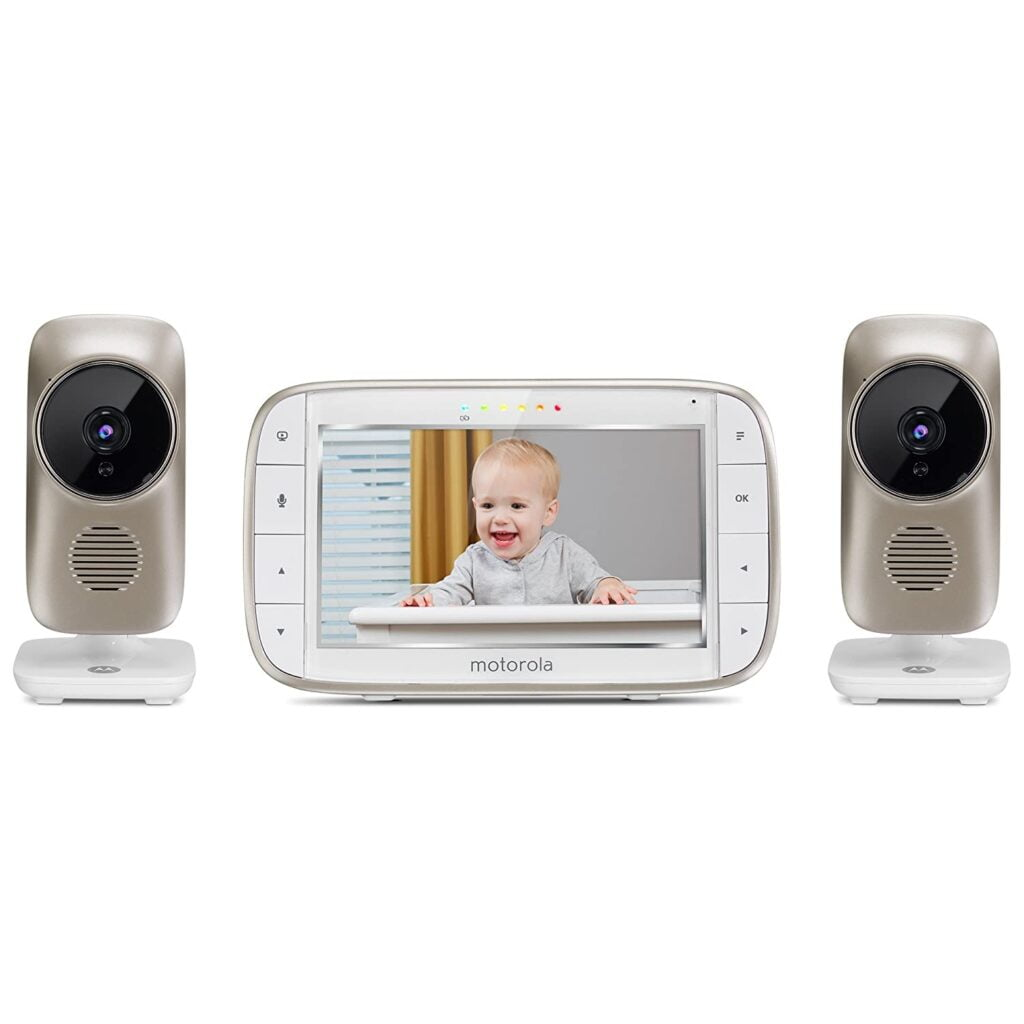"""Motorola MBP845CONNECT 5"""" Baby Monitor Wi-Fi Viewing, Digital Zoom, Two-Way Audio Room Temperature Display"""