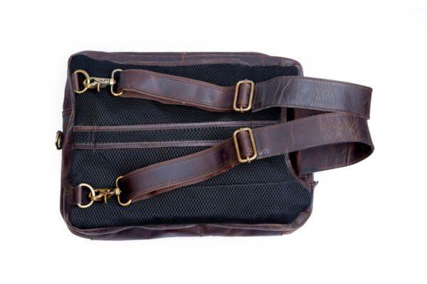 Leather Briefcase Backpack Convertible